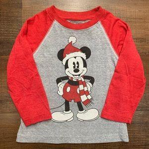 18 month boy Disney Mickey Santa tee